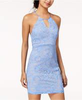 Sequin Hearts Juniors' Lace Racerback Dress