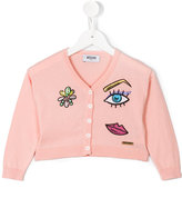 Moschino Kids patch cardigan