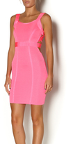 Wow Couture Pink Cut Out Dress