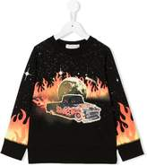 Stella McCartney flame print sweatshirt
