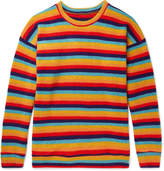 The Elder Statesman Sunset Striped Cashmere Sweater - Multi
