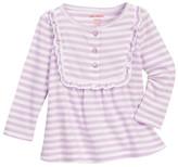 Joe Fresh Striped Henley Shirt (Baby Girls)