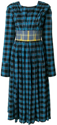Natasha Zinko checked belted dress