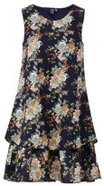 Dorothy Perkins Womens Izabel London Multi Colour Layered Hem Swing Dress With Linen, Multi Colour