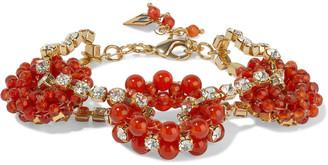 Rosantica Courmayeur Gold-tone, Bead And Crystal Bracelet