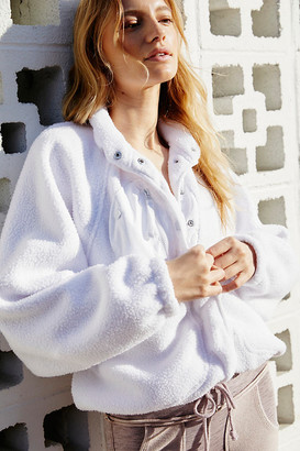 FREE PEOPLE MOVEMENT Hit The Slopes Fleece Jacket By in White Size M