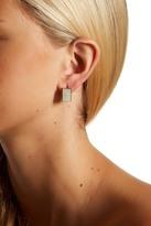 Cole Haan Mother of Pearl Boxy Huggie Hoop Earrings