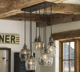 Pottery Barn Paxton Glass 8-Light Pendant