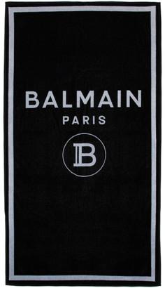 Balmain Black Logo Towel