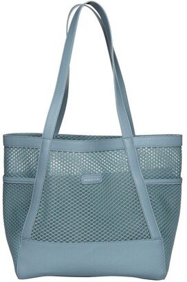 Mocha Summer Beach Bag - Ocean Blue Smoke