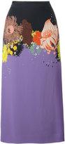 Dries Van Noten Selma long floral print skirt