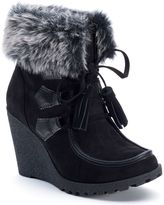 UNIONBAY Peg Women's Wedge Ankle Boots