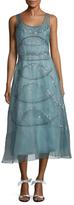 Carolina Herrera Chiffon Sequin A-Line Dress