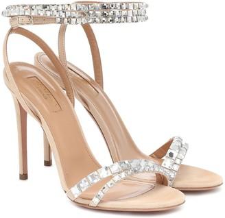 Aquazzura Vera 105 embellished sandals