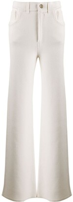 Barrie Wide-Leg Knitted Trousers