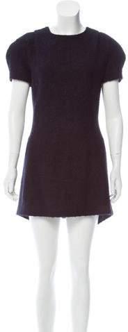 Giuliano Fujiwara Alpaca-Blend Mini Dress