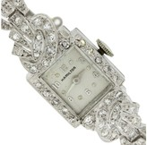 Hamilton Art Deco Platinum .40ctw Diamond Manual 14mm Jewelry Watch