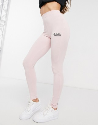 Von Dutch co-ord high waisted leggings in pink