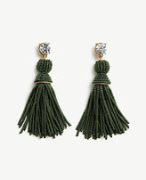 Ann Taylor Seed Bead Tassel Earrings