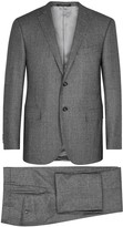 Corneliani Grey Checked Wool Suit