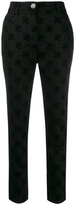 Fendi Karligraphy motif all-over logo trousers