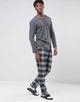 Esprit Lounge Pants in Flannel Check in Regular Fit