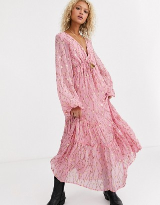 Free People Celina printed maxi dress-Pink