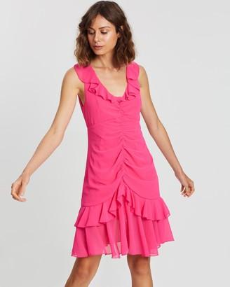 Atmos & Here Frill V-Neck Dress