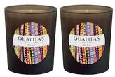 Qualitas Candles Cedar Beeswax Candles (Set of 2) (6.5 OZ)