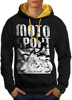 Moto Bike Sport Race Dirt Track Men M Contrast Hoodie | Wellcoda