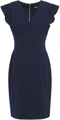 DKNY Ruffle-trimmed Stretch-crepe Dress