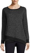 Liz Claiborne Long Sleeve Envelope Hem Sweatshirt