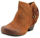OTBT Folkloric Women Round Toe Leather Tan Bootie.