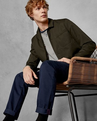Ted Baker Slim Fit Printed Cotton Chinos