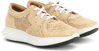 Clergerie Aero raffia sneakers