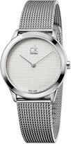 Calvin Klein Unisex Minimal Swiss Stainless Steel Mesh Bracelet Watch 35mm K3M2212Y