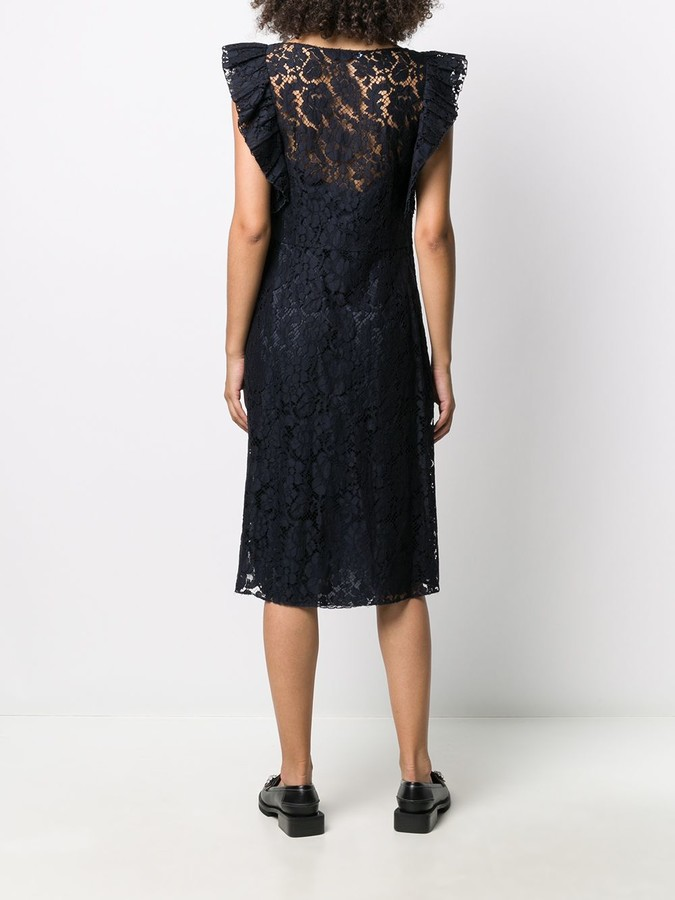 Thumbnail for your product : Prada Pre-Owned lace A-line dress