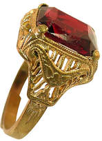 One Kings Lane Vintage 1920s Uncas Filigree Garnet Ring