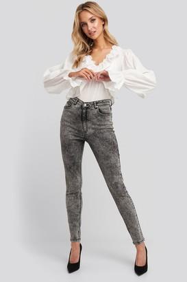 NA-KD Stone Washed Skinny Jeans