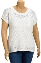 Old Navy Women's Plus Pointelle Knit Sweaters