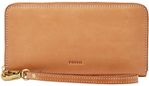 Fossil Emma Leather Large RFID Zip Clutch Purse