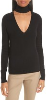 Theory Women's Choker Collar Silk Blend Sweater
