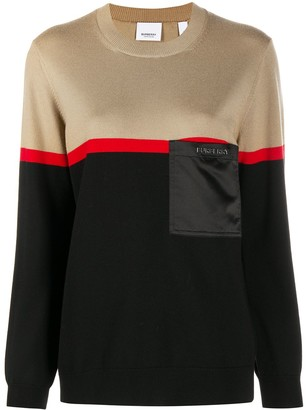Burberry Colour-Block Knitted Jumper