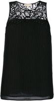 MICHAEL Michael Kors pleated sleeveless blouse