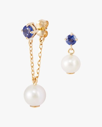 Yi Collection Pearl Sapphire Earrings