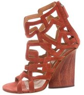 Maiyet Suede Cage Wedges