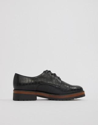 ASOS DESIGN Manner lace up flat shoes