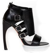 Alexander McQueen Leather Sandals With Buckles