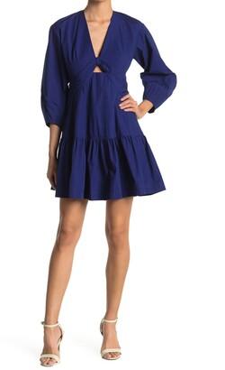 Derek Lam Talia Keyhole Flounce Dress