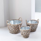 Graham and Green Set Of Three Willow Baskets